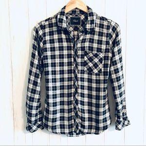 Rails Black/White Plaid Flannel Shirt
